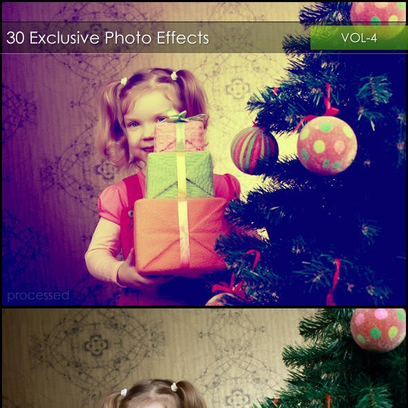 30 Exclusive Photo Effects Action Pack VOL-4