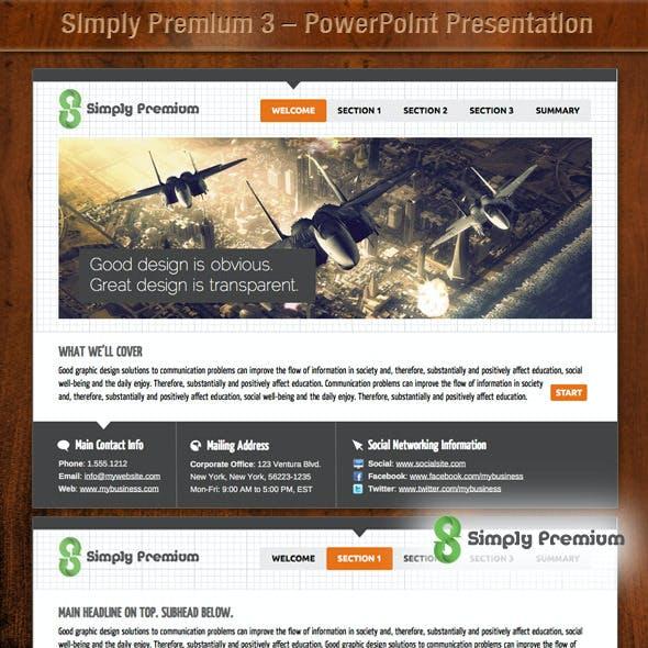 Simply Premium 3 – PowerPoint Presentation
