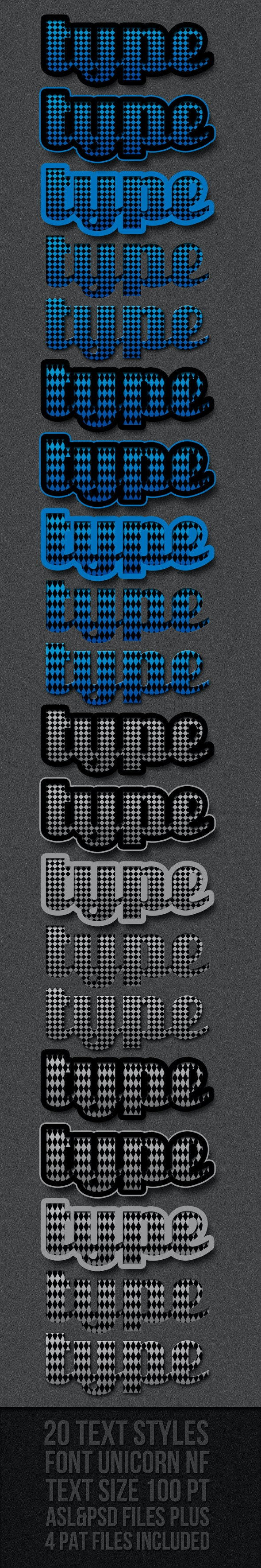 Romb Text Styles - Text Effects Styles