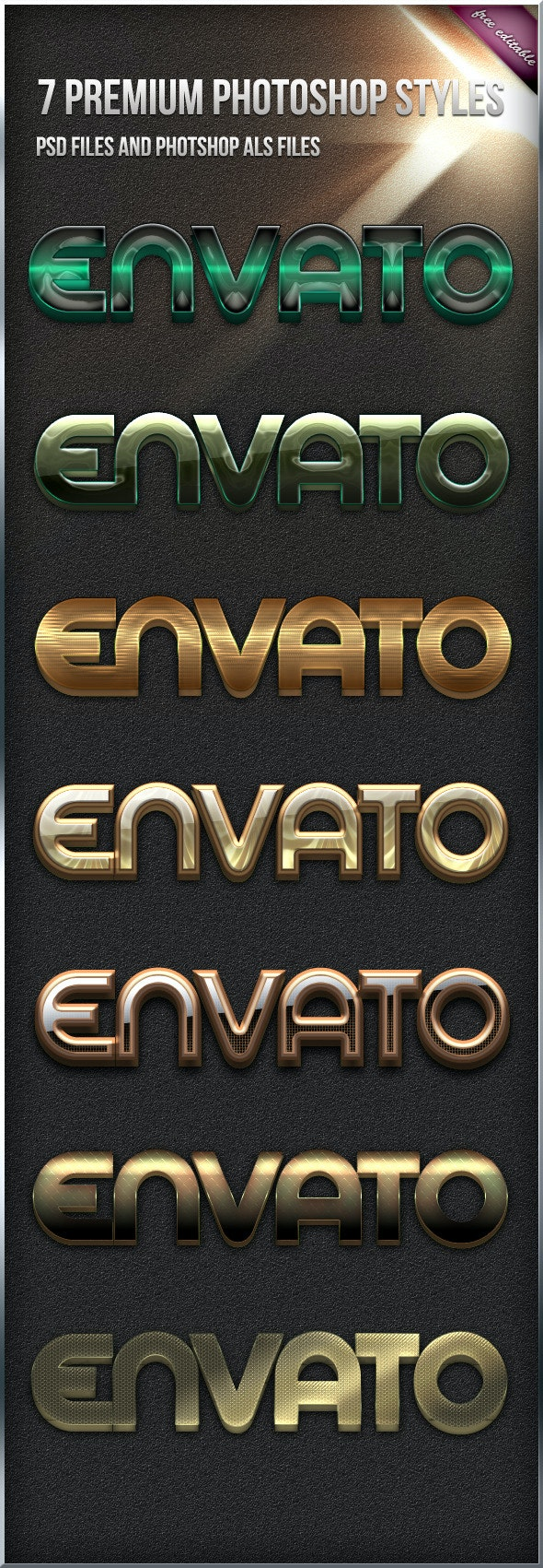 7 Premium Styles - Text Effects Styles