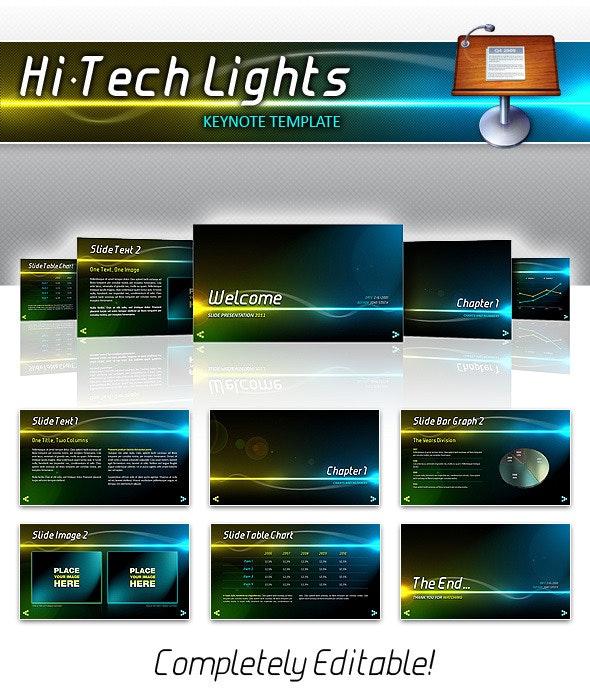 Hi-Tech Lights Keynote - Keynote Templates Presentation Templates