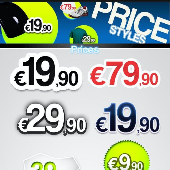 Prices - Text Styles