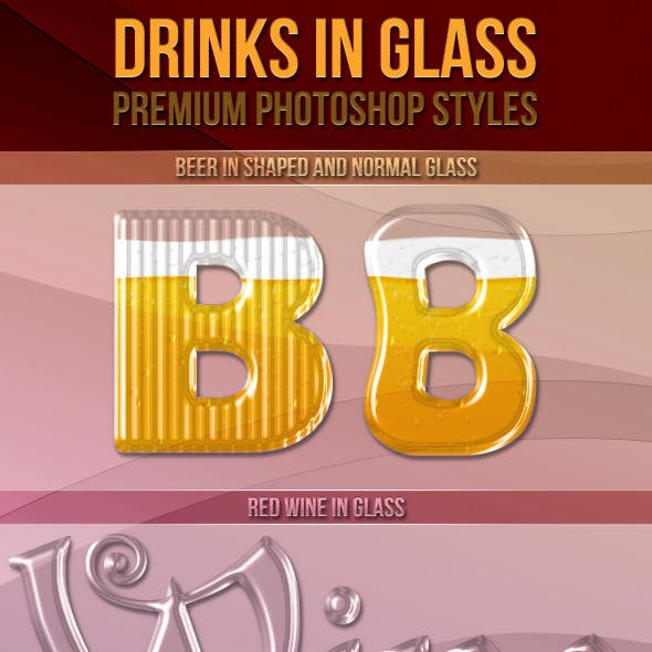 Drinks In Glass - Photoshop Styles