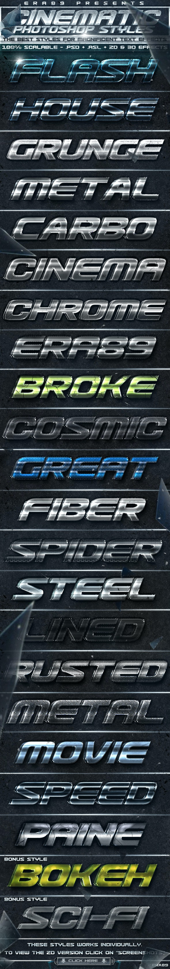 Cinematica Text Effects - PS Styles - Text Effects Styles