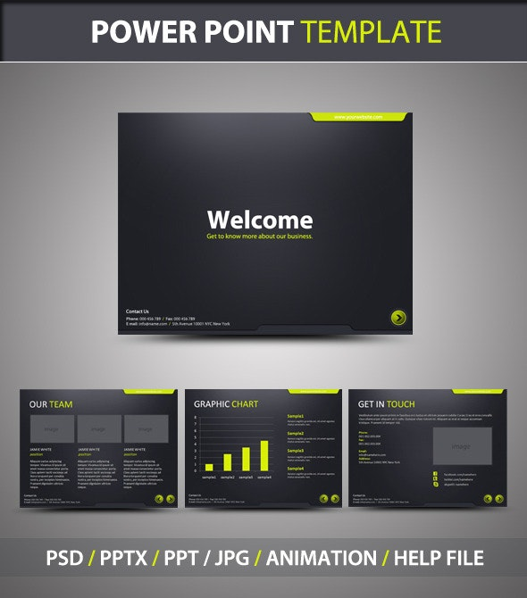 Stylish PowerPoint Template - PowerPoint Templates Presentation Templates