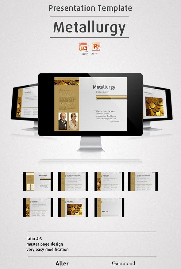 Metallurgy - Powerpoint Presentation - Finance PowerPoint Templates