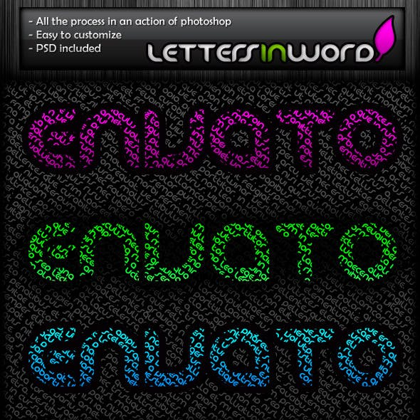 Letters In Word Style Text