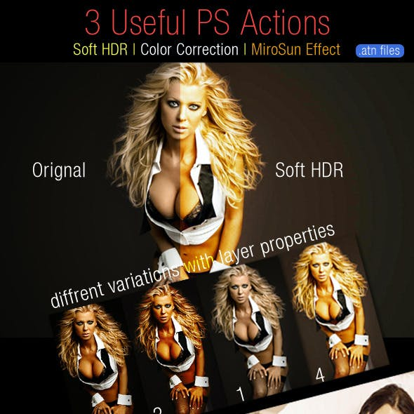 3 Useful Tone Actions for Photoshop