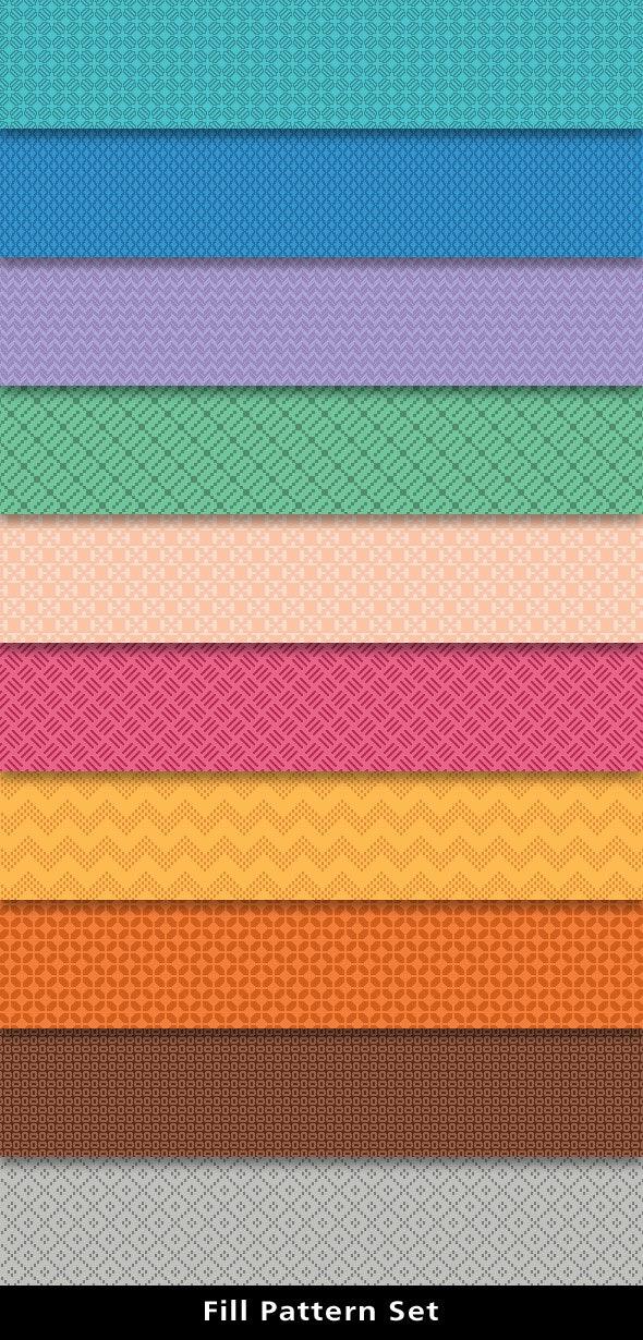 Fill Patterns Set - Miscellaneous Textures / Fills / Patterns