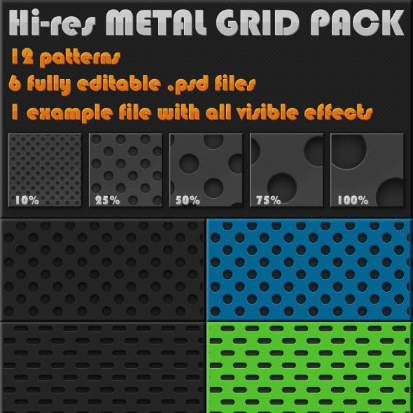 12 Hi-Res Metal Grid