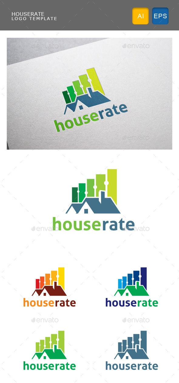 House Rate - Buildings Logo Templates