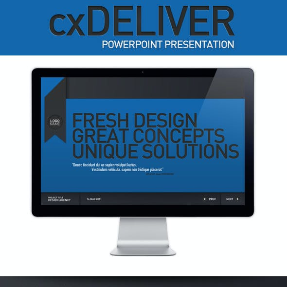 CXDeliver Powerpoint Presentation Template