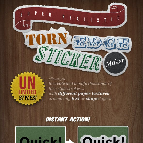 Torn Edge Sticker Maker