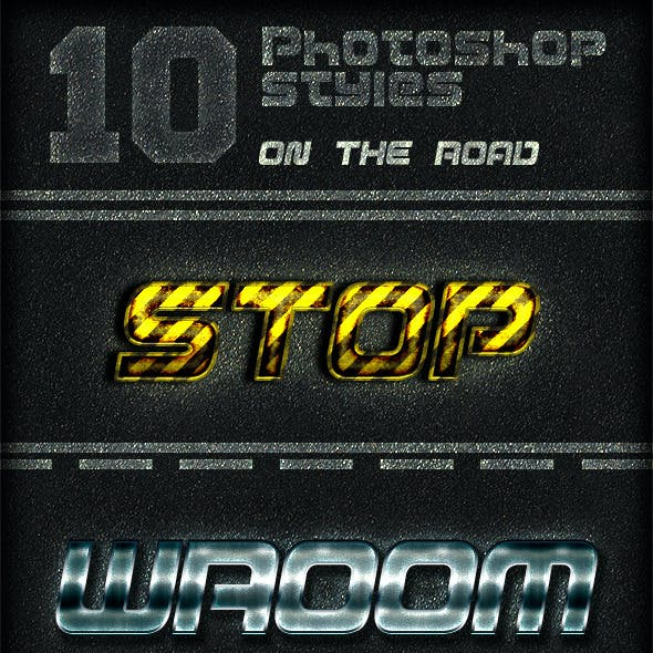 10 Photoshop Layer Styles - On The Road
