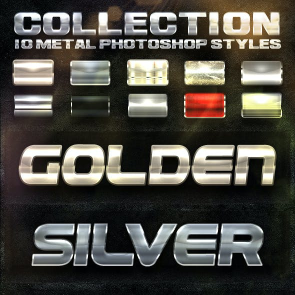 COLLECTION 10 Metal Photoshop Styles