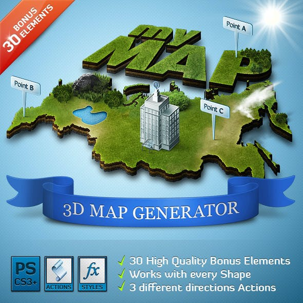 3D Map Generator - Action