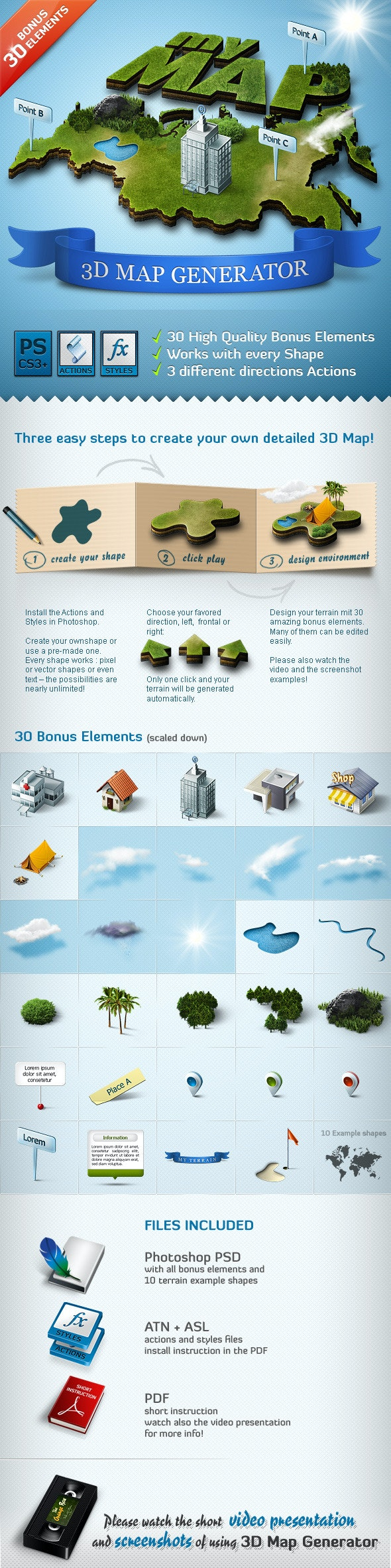 3D Map Generator - Action by Orange_Box | GraphicRiver
