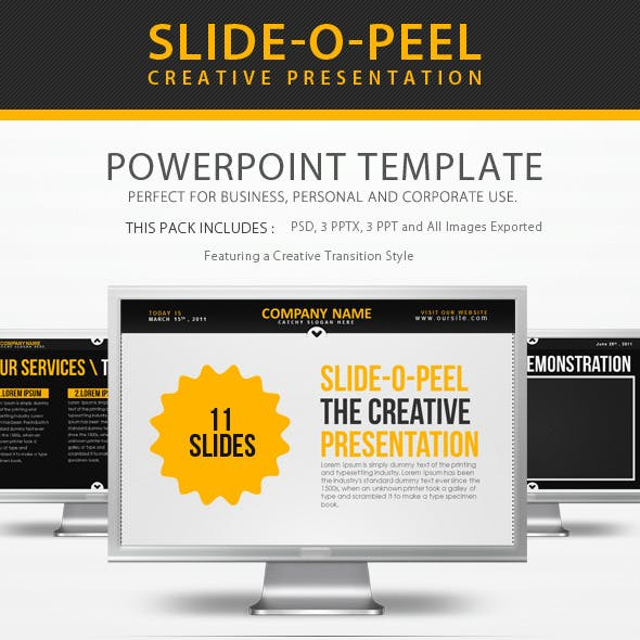 Slide-O-Peel Creative PowerPoint Presentation