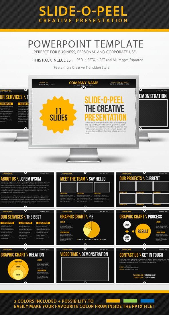 Slide-O-Peel Creative PowerPoint Presentation - PowerPoint Templates Presentation Templates