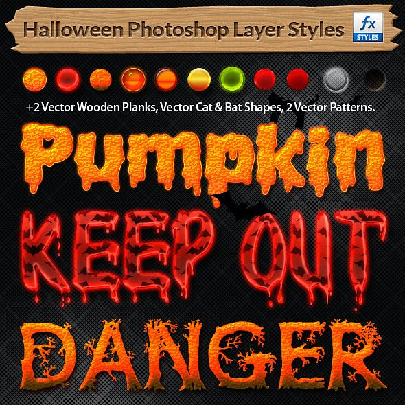 Halloween Styles + Vector Patterns & Shapes