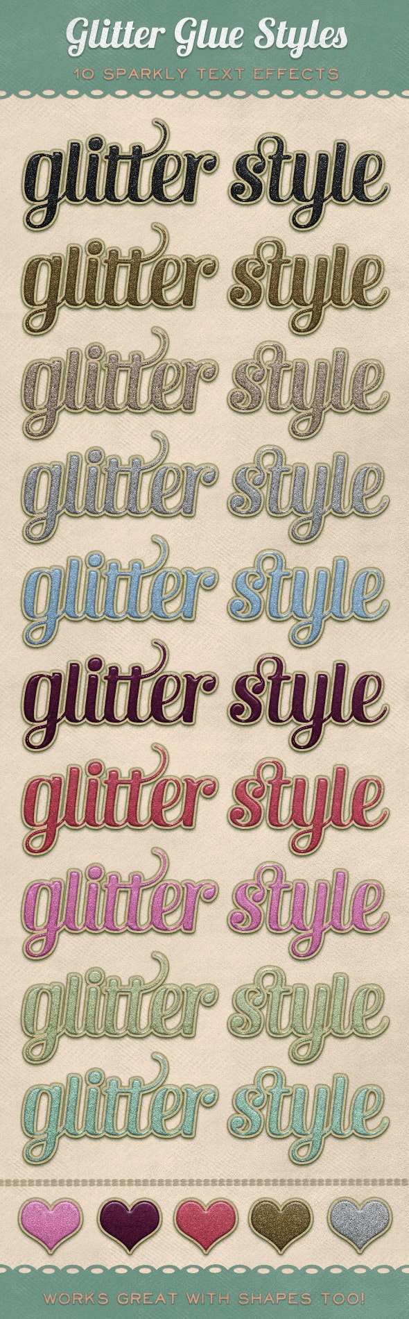 Glitter Glue Styles - Text Effects Styles