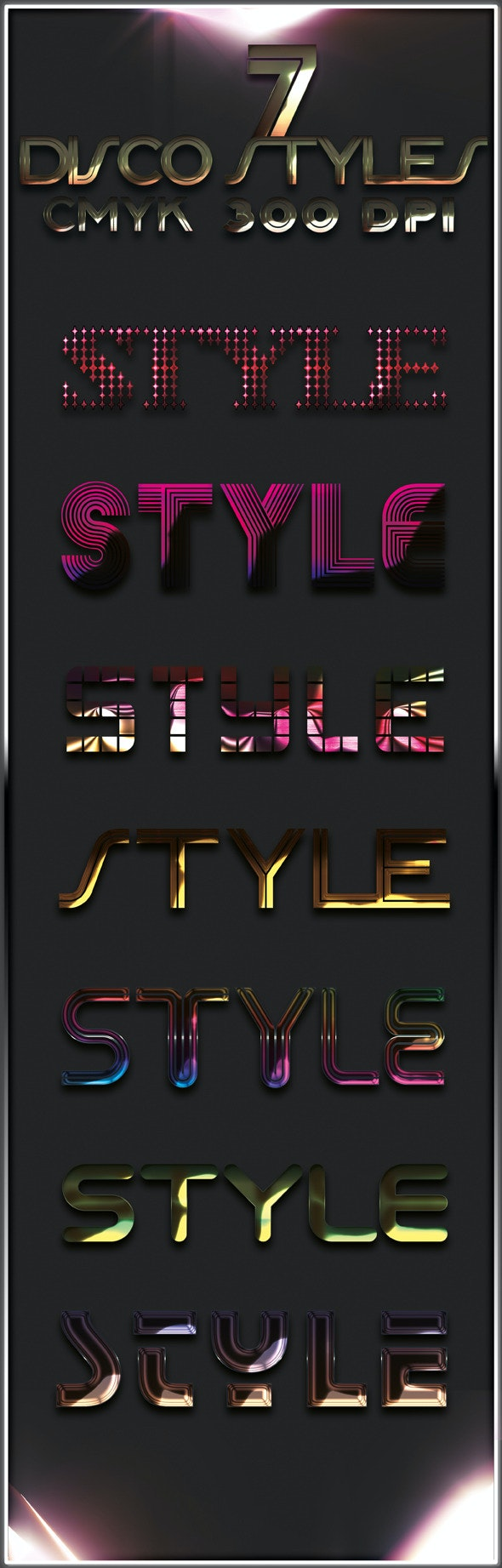 7 Disco Styles - Text Effects Styles