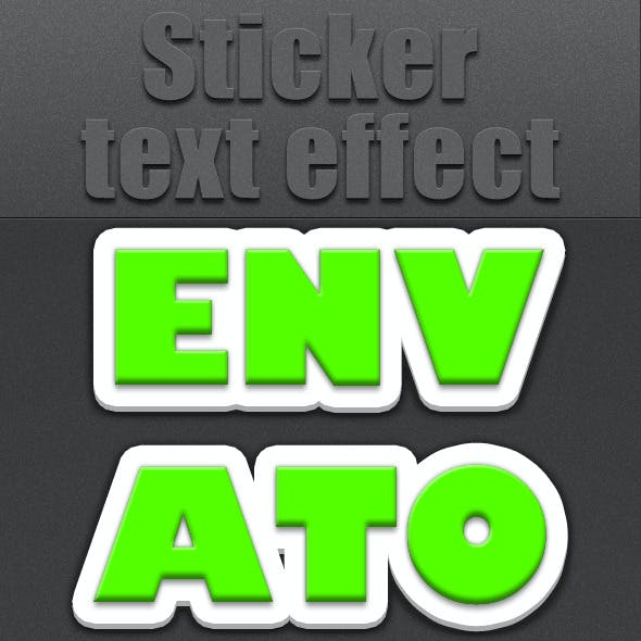 Sticker Text Effect