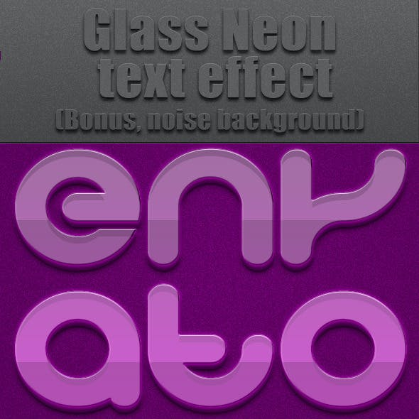 Glas Neon Text Effect