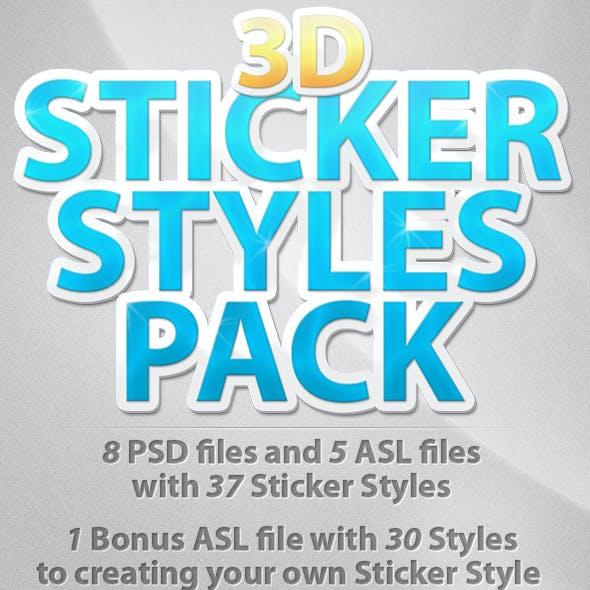 3D Sticker Styles Pack