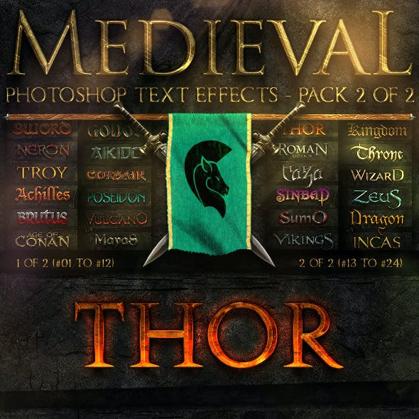 Medieval Photoshop Text Effects 2 of 2