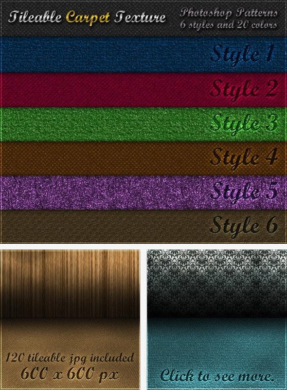 6 Tileable Carpet Textures - Photoshop Patterns - Textures / Fills / Patterns Photoshop