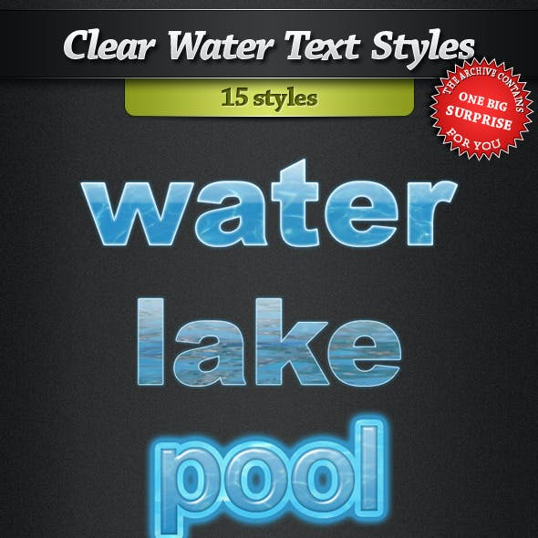 Clear Water Text Styles