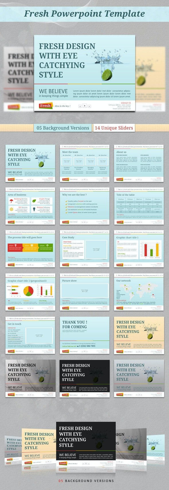 Fresh PowerPoint Template - PowerPoint Templates Presentation Templates