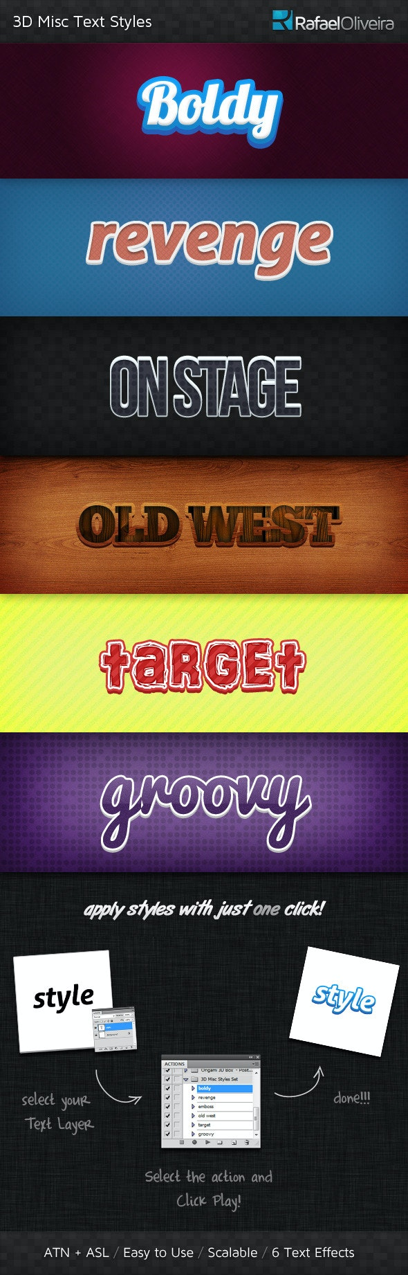 3D Misc Text Styles - Text Effects Styles