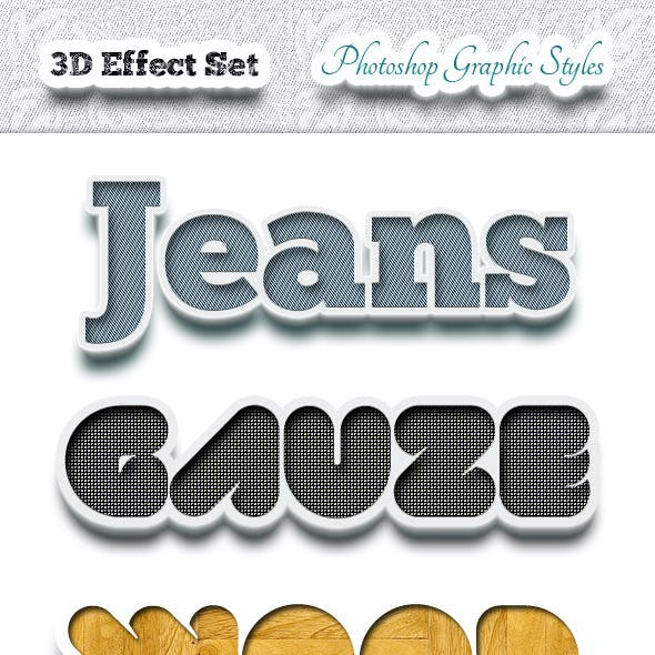 3D Effects Set - Photoshop Graphic Styles