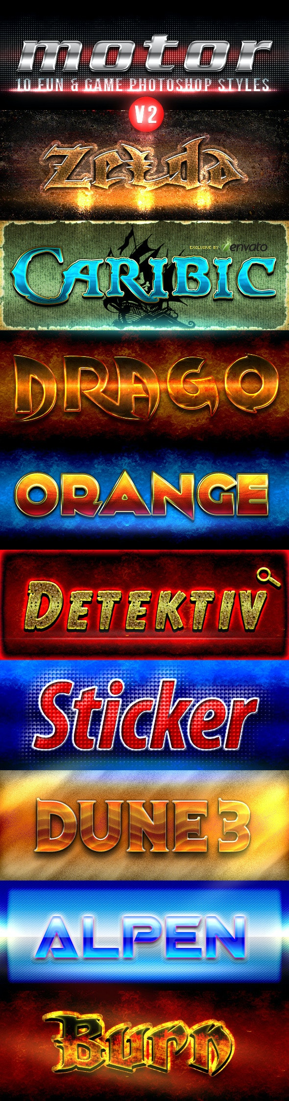Fun And Game Photoshop Styles - Collection V2 - Text Effects Styles