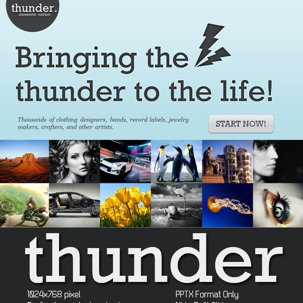 Thunder PowerPoint Presentation