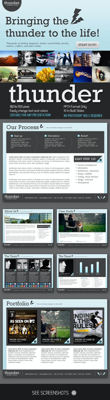 Thunder PowerPoint Presentation - Creative PowerPoint Templates