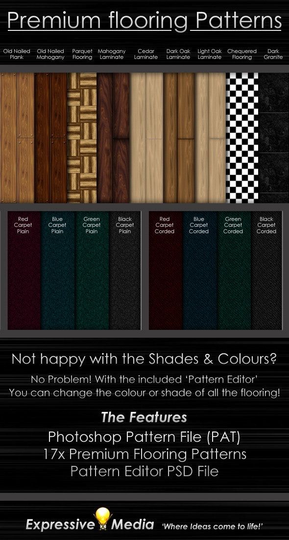 Premium Flooring Patterns - Miscellaneous Textures / Fills / Patterns