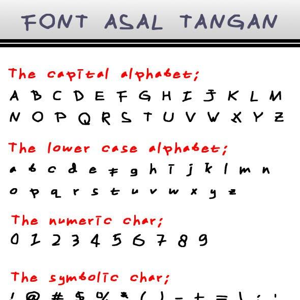 Font Asal Tangan