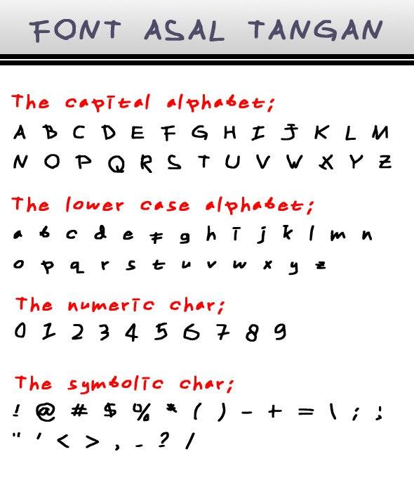 Font Asal Tangan - Handwriting Fonts