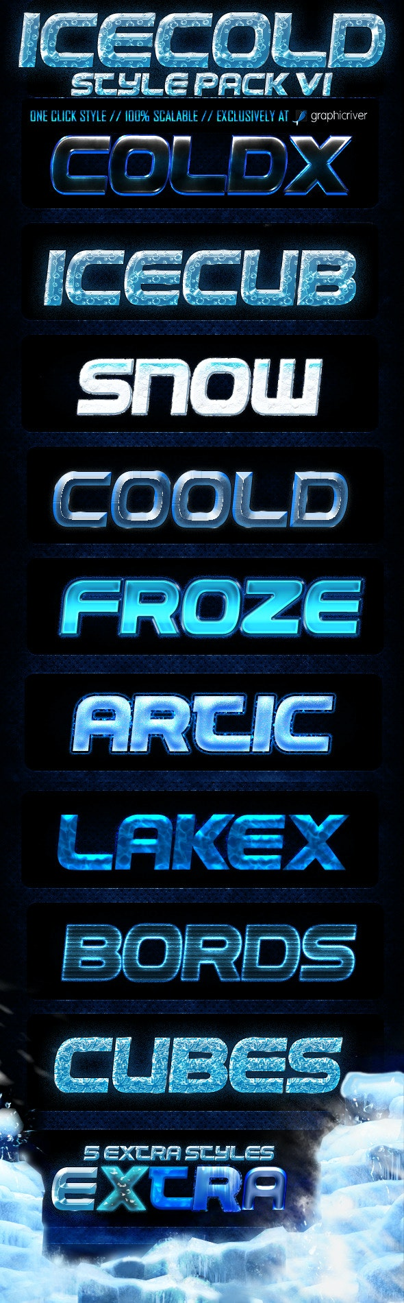 Ice Cold Styles V1 - Text Effects Styles