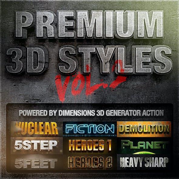 Dimensions - Premium 3D Styles Vol.2