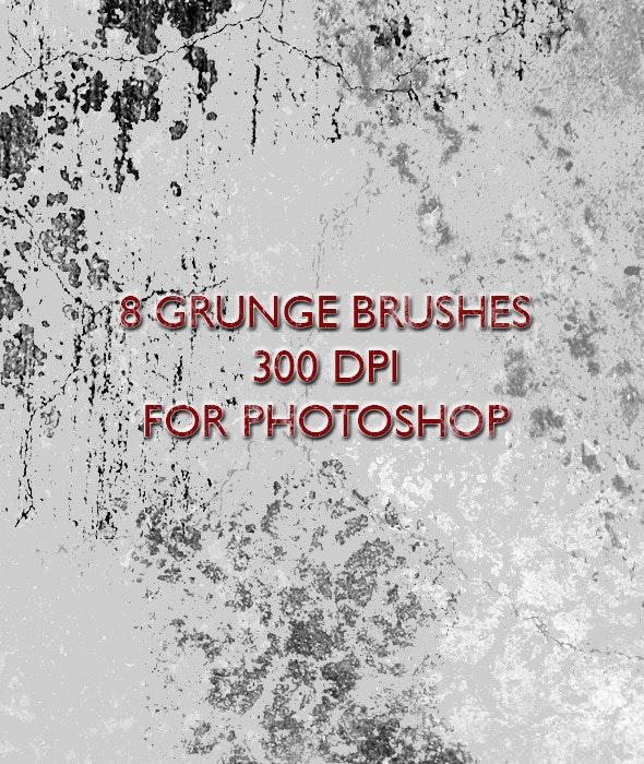 8 Grunge Brushes - Grunge Brushes