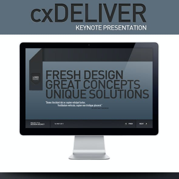 CXDeliver Keynote Presentation Template