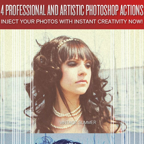 4 Professional Photo Looks #4 - Photoshop Actions