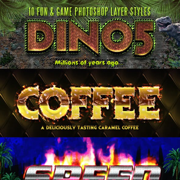10 Fun & Game Photoshop Layer Styles