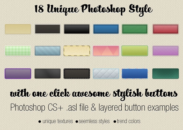 Seemless Textured Photoshop Styles - Text Effects Styles