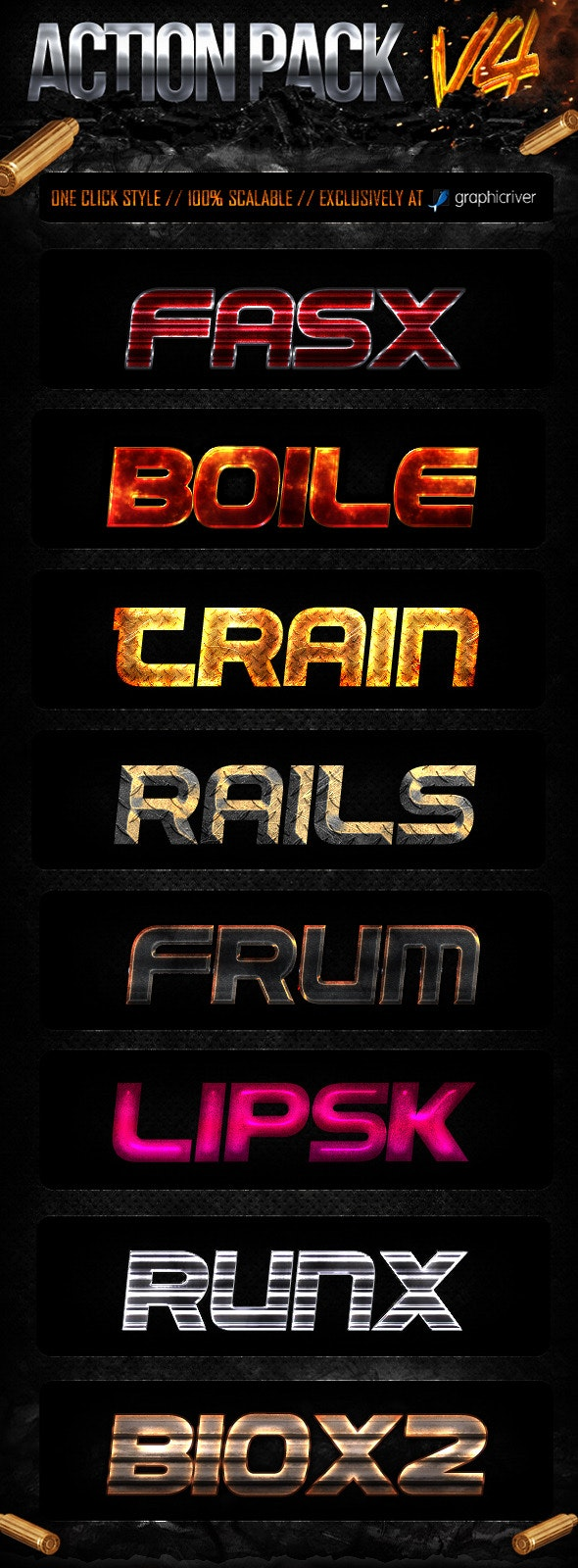 Action Style Pack V4 - Text Effects Styles