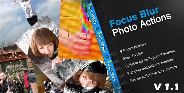 Focus Blur Photo Action - Photo Effects Actions